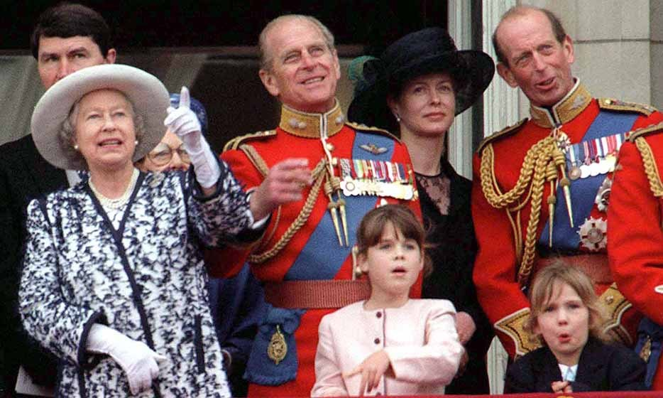 The little royal joined Queen Elizabeth II and Prince Philip on the balcony of Buckingham Palace for Trooping the Colour in 1998.