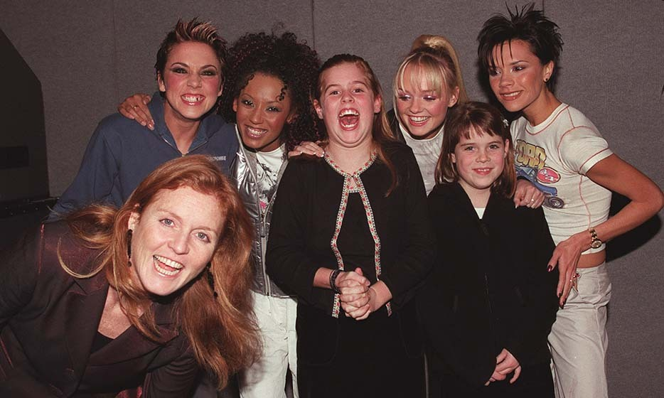 Beatrice's face says it all – the sisters' dreams came true when they met the Spice Girls backstage at a concert in 1999. 