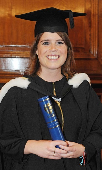 Beaming with pride, Princess Eugenie attended her graduation ceremony at Newcastle University in 2012. Eugenie was awarded her 2:1 combined degree in English and Art History. 
