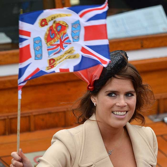 In 2012, the patriotic princess waved a flag during the Diamond Jubilee Thames River Pageant. 