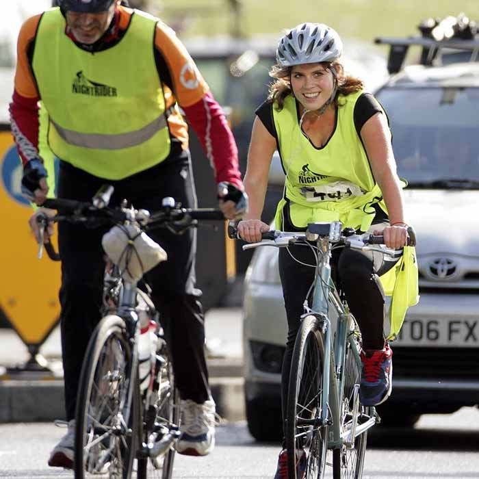 The sporty royal completed a 64-mile charity bike ride in London in 2012. 