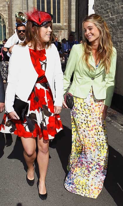 Eugenie and her close friend, Cressida Bonas (Prince Harry's ex-girlfriend), attended the wedding of Lady Natasha Rufus Isaacs and Rupert Finch in 2013.