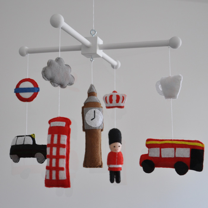 A WINDSOR FAMILY-INSPIRED MOBILE ADDS A BRITISH TOUCH