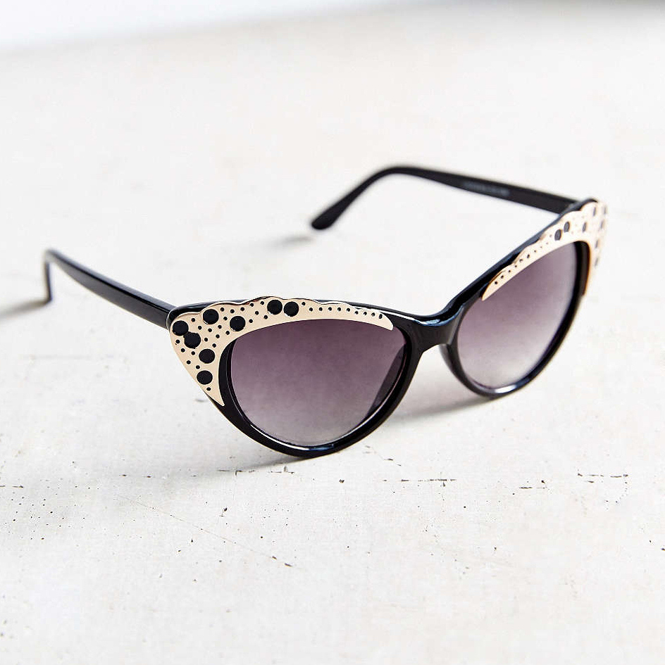 Urban Outfitters Metal Overlay Cat-Eye Sunglasses, $20.00, urbanoutfitters.com