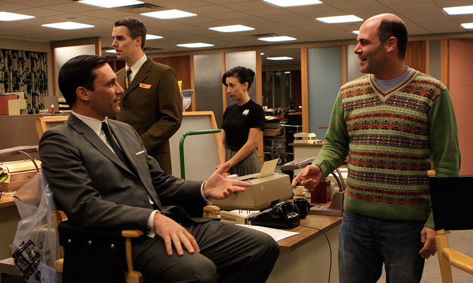 Matthew Weiner (right):