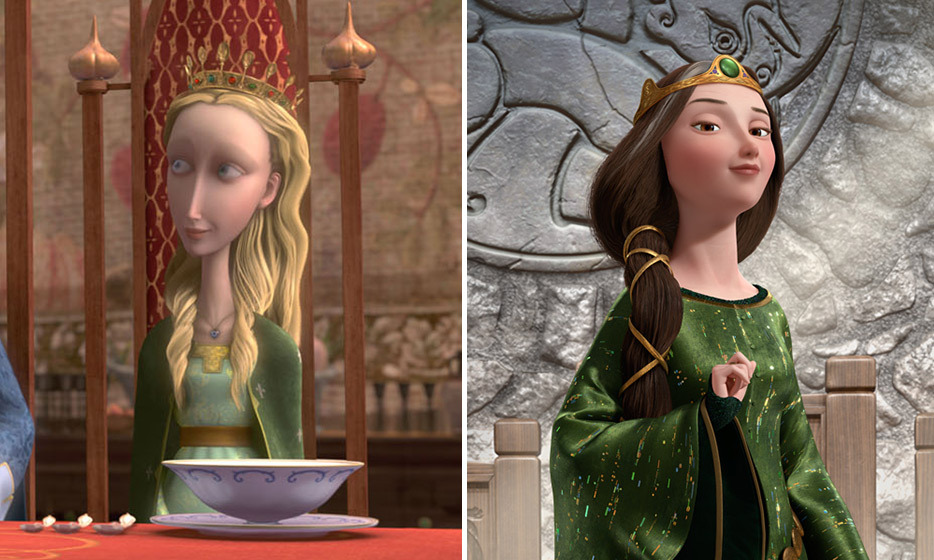 REGAL ROLES: Emma T. gave voice to Queen Elinor in Disney's 'Brave' (right) and Emma W. played sweet and friendly Princess Pea in 2008's 'The Tale of Despereaux' (left). 