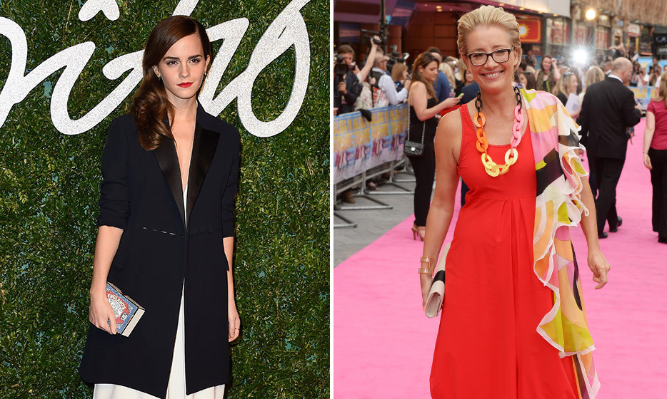 STYLE QUEENS: Emma T. is never one to shy away from daring red carpet looks and Emma W.'s stylish status was made official in late 2015 when she took home the British Style honour at the British Fashion Awards in London. 