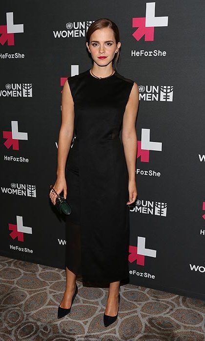 Attending the UN's HeForShe after party. 