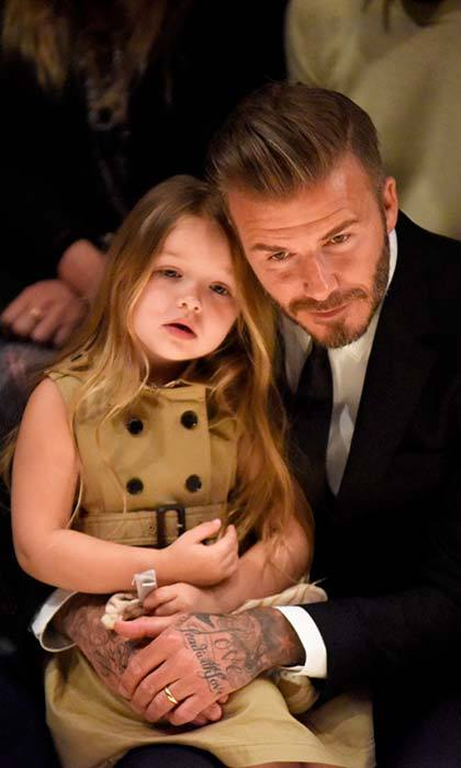 Looking adorable in a Burberry kids dress at the British heritage brand's show in Los Angeles. Photo: © Getty Images