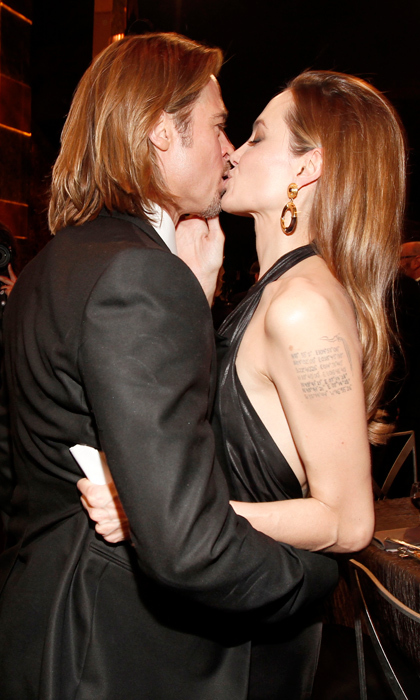 Smooching at the SAG awards in 2012. 