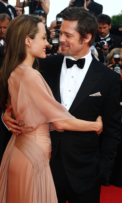 Gazing into each others eyes at the <em>Inglourious Basterds</em> premiere at Cannes in 2009.