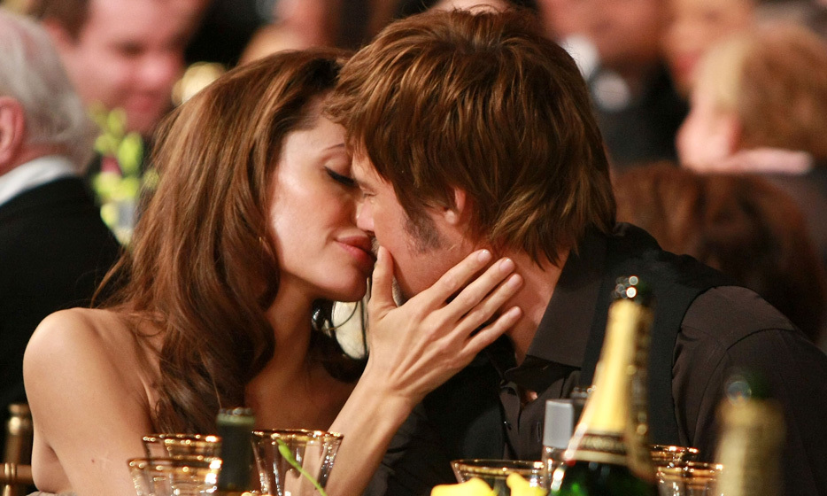 Sharing a tender embrace at the Screen Actors Guild Awards in 2008.