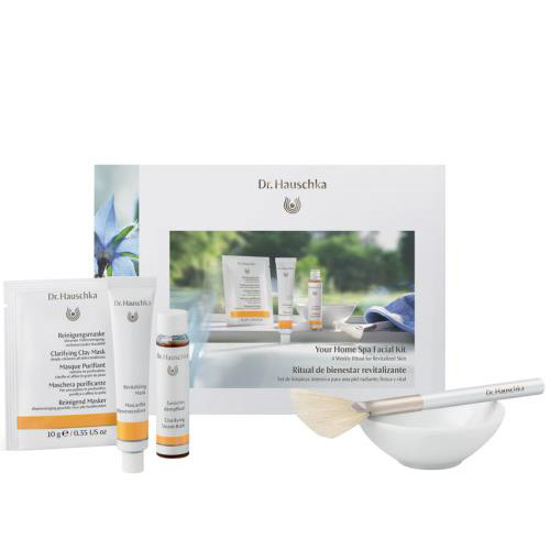 Revitalize winter-ravaged skin with this all-natural, organic at-home spa kit. Dr. Hauschka's Your Home Spa Facial Kit, dr.hauschka.com, $35