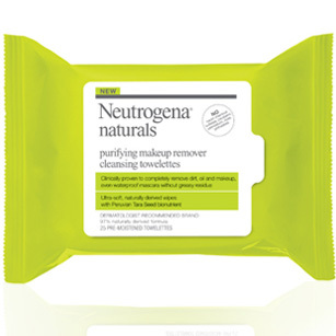 Looking for a simple all-natural line to clean up your beauty routine? Do as Kristen Bell does and reach for Neutrogena's Naturals products. Bonus: They're also cruelty free. Neutrogena Naturals Purifying Makeup Remover Cleansing Towelettes, Shoppers, $8
