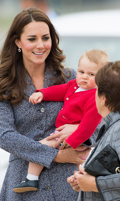 George's adorable 'unimpressed' face may reappear when meeting the newborn for the first time