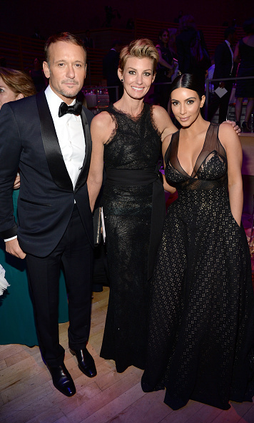 Tim McGraw, Faith Hill and Kim Kardashian