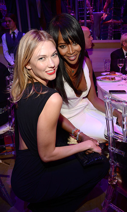 Karlie Kloss and Naomi Campbell