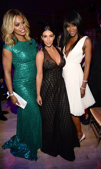 Laverne Cox, Kim Kardashian and Naomi Campbell