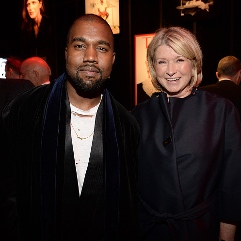 Kanye West and Martha Stewart