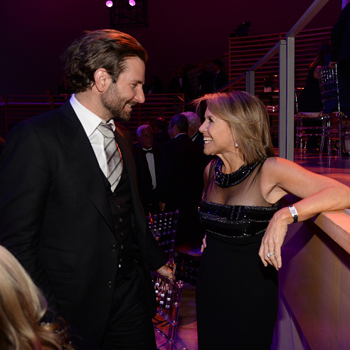Bradley Cooper and Katie Couric