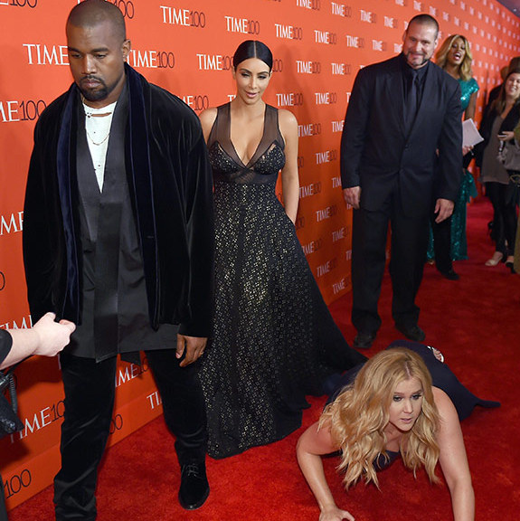 Kanye West, Kim Kardashian and Amy Schumer