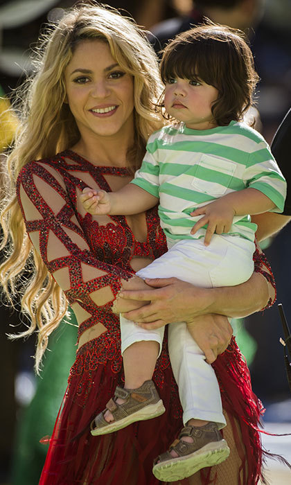 "After performing at the World Cup closing ceremony in July 2014, Shakira thanked fans on Instagram alongside a snap of her holding Milan in her arms on the soccer pitch. ""I will never forget this day at Maracanã. Thank you all for bringing me here! Shak,"" she wrote. 