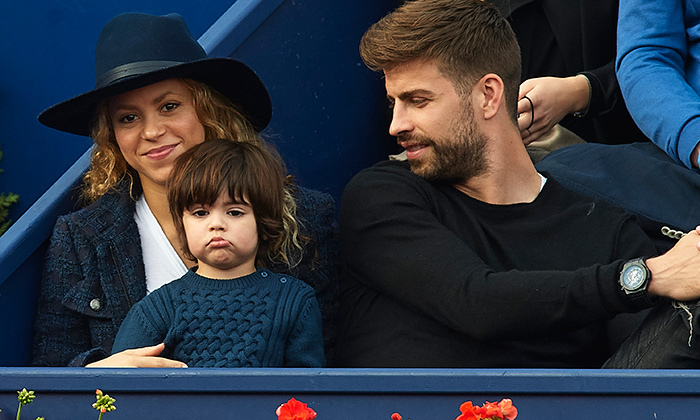 "Cute little Milan grew restless during the Barcelona Open Banc Sabadell on April 26, where he pulled an ""unimpressed face"" à la Prince George.   