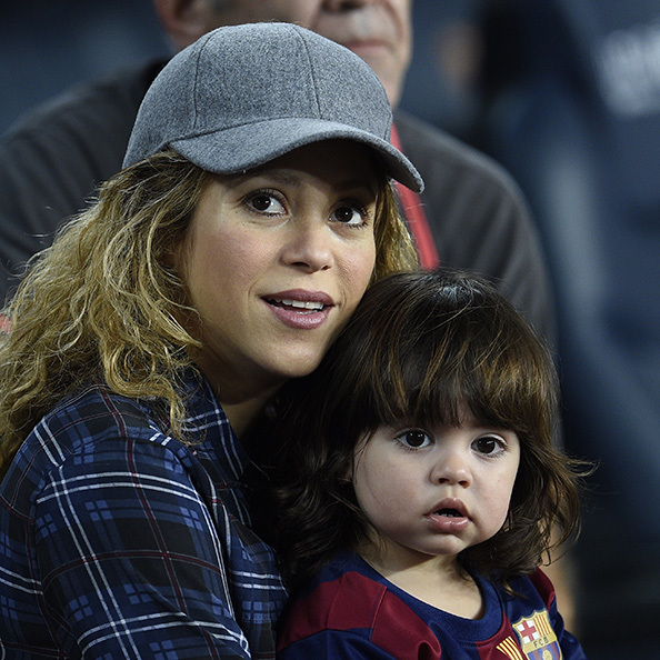They're like twins! Milan has clearly inherited mom's big brown eyes and cute button nose.