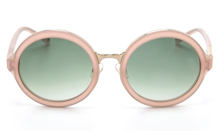 3.1 Phillip Lim Glam Round Sunglasses in Frosted Salmon, 