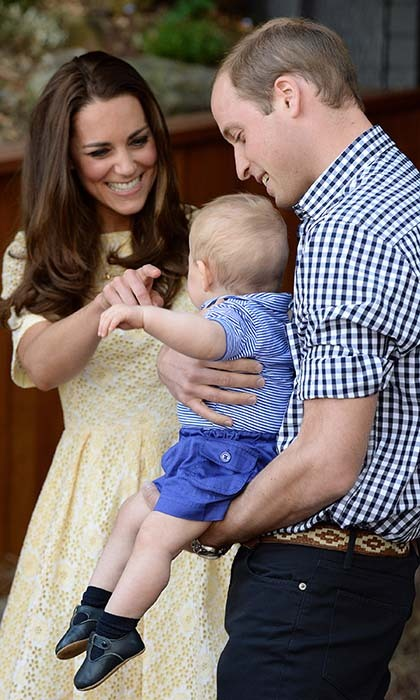 Kate, William and George looked like the epitome of a happy family during a visit to Taronga Zoo in Sydney last April.