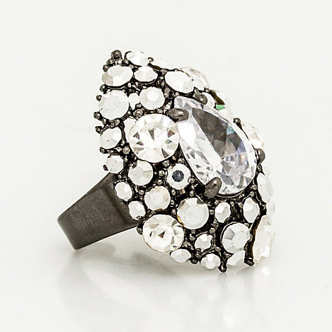 Le Chateau, Gem Cluster Adjustable Ring, 