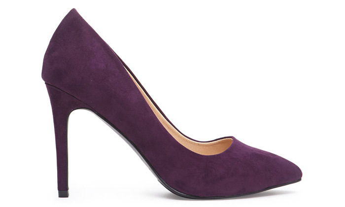 Forever 21, Pointed Faux Suede Pumps, 