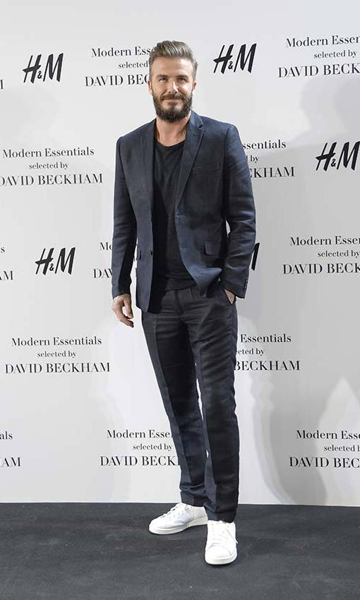 Effortlessly cool for the launch of his H&M collection in Madrid. Photo: © Getty Images