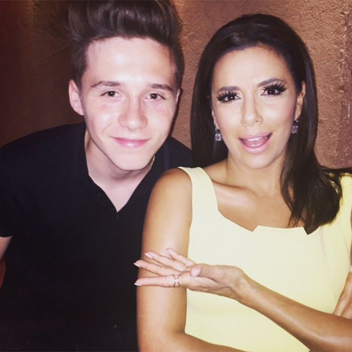Eva Longoria and Brooklyn Beckham 