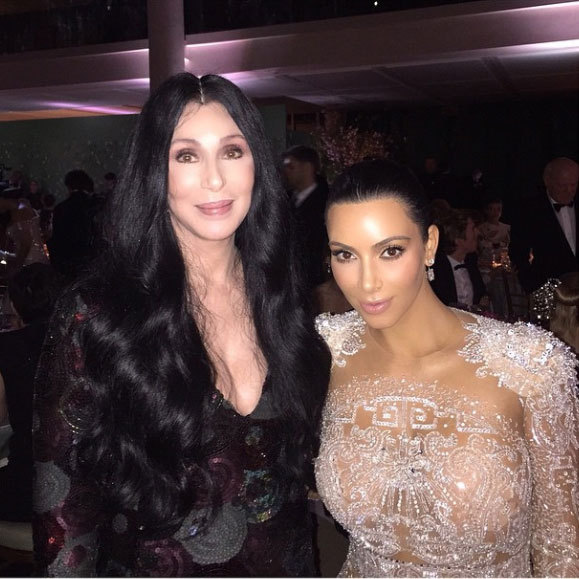 "Kim Kardashian: ""This beauty, this icon! I'm so so happy I met her!!!! We spoke about our amazing Armenian journeys! And that Bob Mackie gown she wore to the Met 1974""