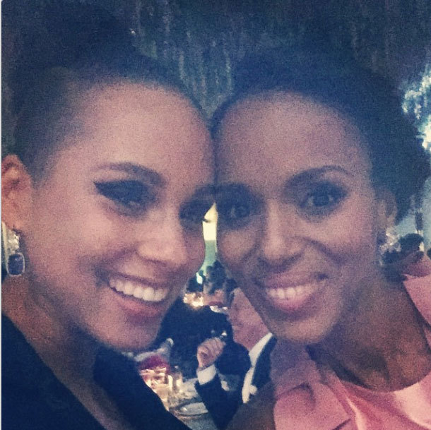 Kerry Washington and Alicia Keys.