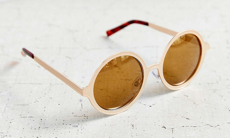 Urban Outfitters, Painted Metal Round Sunglasses, 
