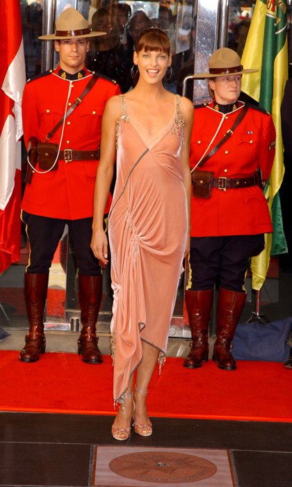 2003: The Canadian model came home to unveil her star on the country's highly coveted Walk of Fame in downtown Toronto.  