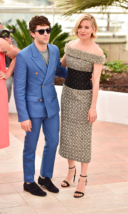 Xavier Dolan and Sienna Miller in Balenciaga. 