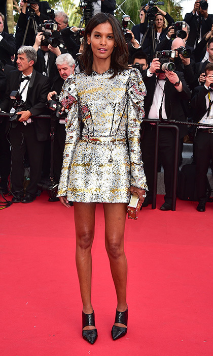 Liya Kebede in Louis Vuitton. 