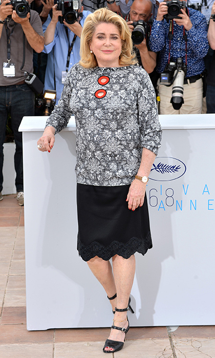 Catherine Deneuve in Louis Vuitton.