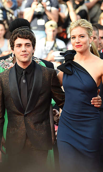 Xavier Dolan and Sienna Miller, in Lanvin.
