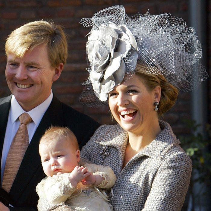 Following the christening of her second daughter Princess Alexia in 2005. 