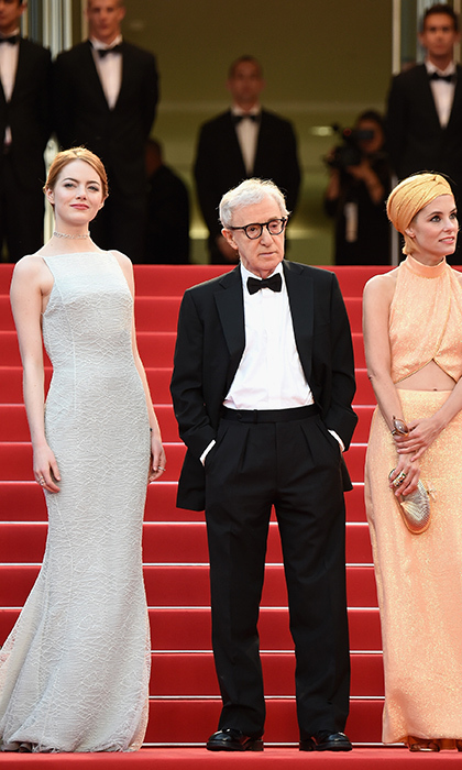 Emma Stone, Woody Allen and Parker Posey. 