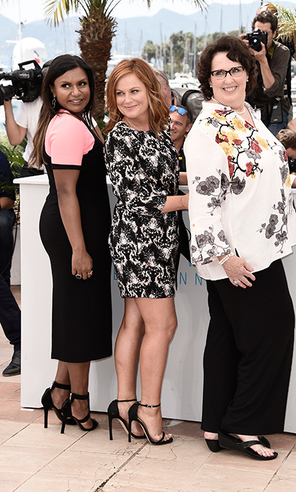 Mindy Kaling, Amy Poehler and Phyllis Smith.