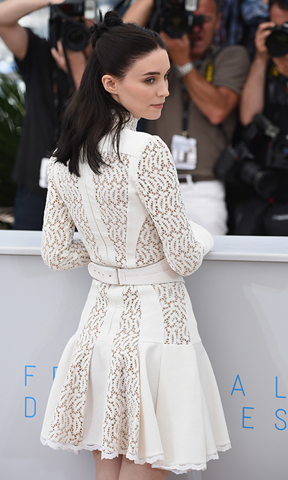 Rooney Mara in Alexander McQueen.