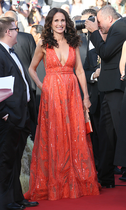 Andie MacDowell in Elie Saab.