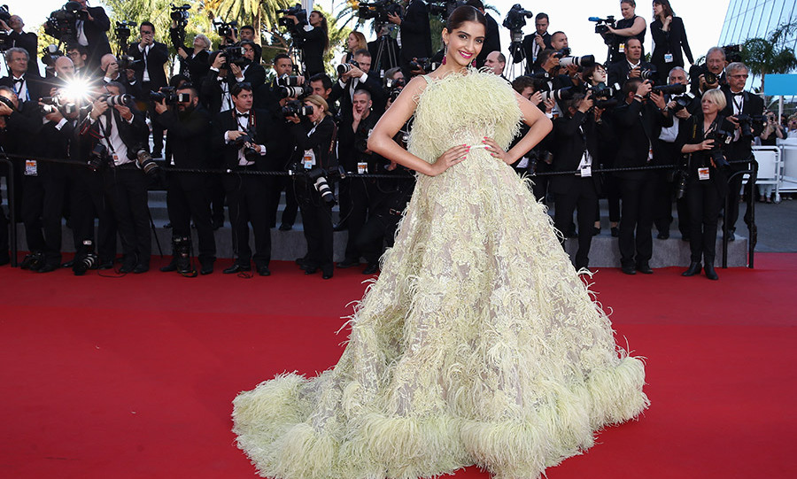 Sonam Kapoor in Elie Saab Couture.