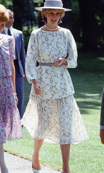 The princess wore a see-through suit designed by <strong>Jasper Conran</strong> during an official visit to Ottawa. She teamed the look with a matching lilac hat and a single string of pearls.