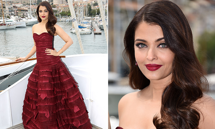 Aishwarya Rai in Oscar de la Renta. 